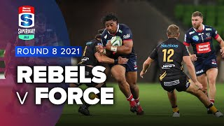 Rebels v Western Force Rd.8 2021 Super rugby AU video highlights