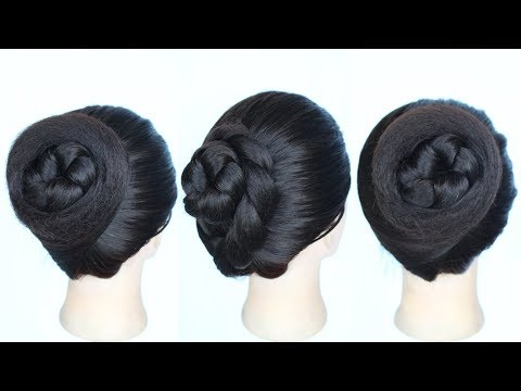 Easy hairstyles - very easy 2 different juda hairstyle in 1 minute  juda hairstyle  summer hairstyle  twisted bun