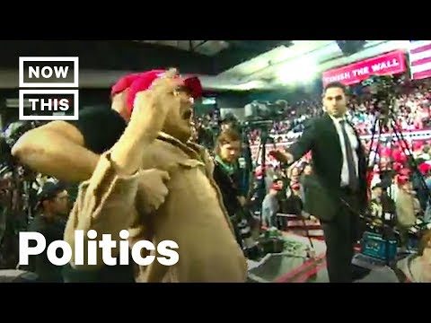 Trump Supporter Attacks Journalist at El Paso Rally | NowThis