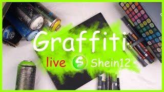 Graffiti Livestream sketchen und gute Laune haben 🍀