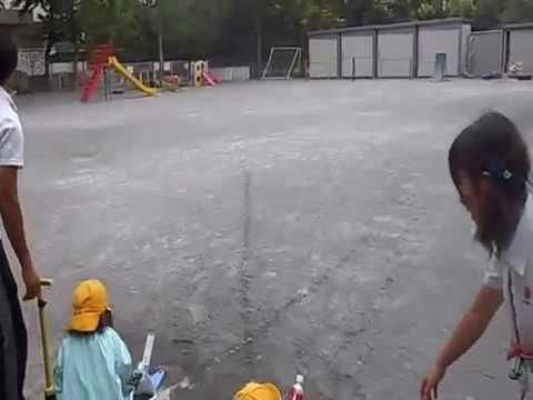 ペットボトルロケットとばし~江戸川幼稚園~