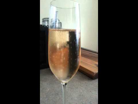 WATCH: Raisin in a glass of champagne