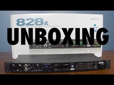 Unboxing: Motu 828x Audio Interface