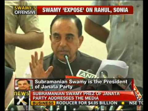 Rahul, Sonia in Herald House fraud: Swamy
