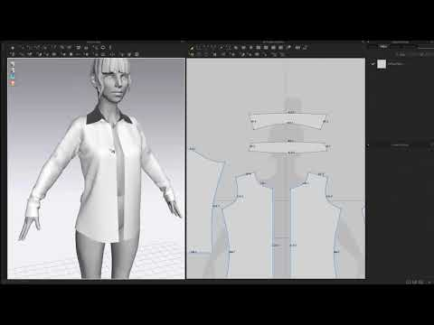 MarvelousDesigner shirt (видео)