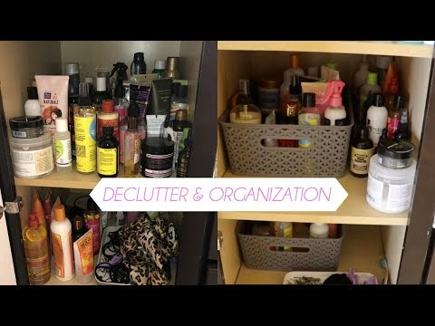Curly Hair Product Declutter + Organization