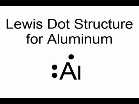 Lewis Dot Structure for Aluminum Atom (Al)