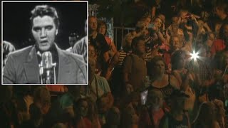 Thousands of fans brought their burning love to Graceland to mark the 40th anniversary of Elvis Presley's death Tuesday night.