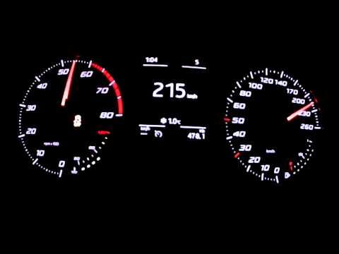 seat leon 1,4 tsi - accelerazione da 0 a 215 km/h!