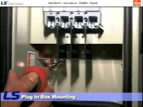Plug in hole and plug in box mounting