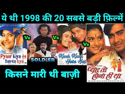 Top 20 Bollywood movies Of 1998 | With Budget and Box Office Collection | Highest Grossing film 1998