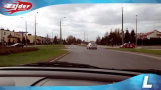 Rajder - Toruń trasy egzaminacyjne - zawracanie na rondzie - Rondo Czadcy - Kurs jazdy 2014
