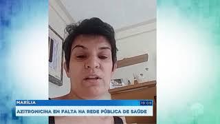 Azitromicina em falta na rede pública de Marília
