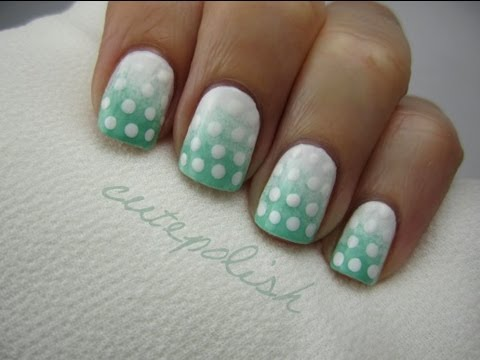 Easy Ombre Polka Dot Nail Art