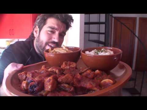 Carne con tomate y pimientos