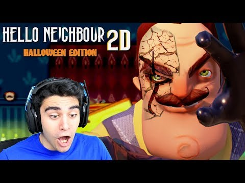 PENNYWISE ATTACKED ME AND THE NEIGHBOR! - Hello Neighbor 2D (Halloween Edition) (видео)