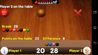 Snooker Manager YouTube-Video