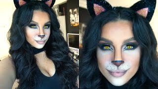 Feline Glam Halloween Makeup Tutorial | 2015 | Makeup By Leyla
