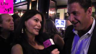 LIVE With MJ! Host, MJ Pedone Interviews retired NFL player, Christian Peter at the People Who THRIVE Cocktail Fundraiser on Wednesday, October 21, 2015 ...