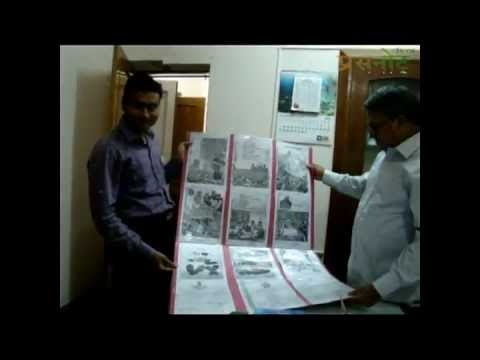 23 FT. Clipping poster on Mahatma Gandhi