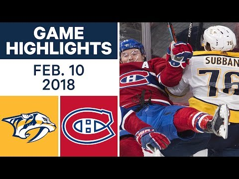Video: NHL Game Highlights | Predators vs. Canadiens - Feb. 10, 2018