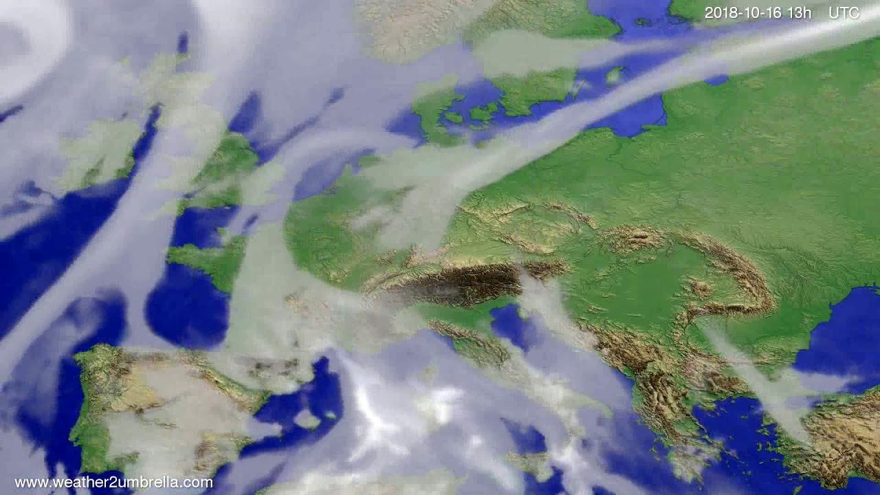 Cloud forecast Europe 2018-10-13