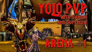 A little yolo pvp rated arenas, because well, we F'in can! We don't claim to know what we are doing, hence the yolo pvp. Sanish is...
