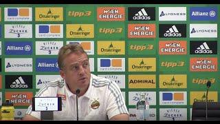 Pressekonferenz nach Rapid gegen Mattersburg