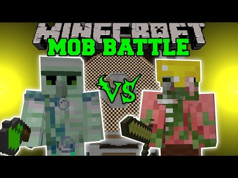 EMERALD HULK VS PIGMAN KING - Minecraft Mob Battles - Minecraft Mods