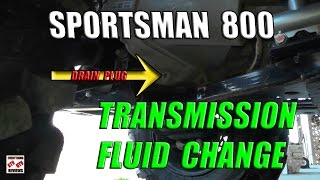 7. Sportsman 800 Transmission Rear Differential Gearcase Fluid Change: Polaris AGL Fluid