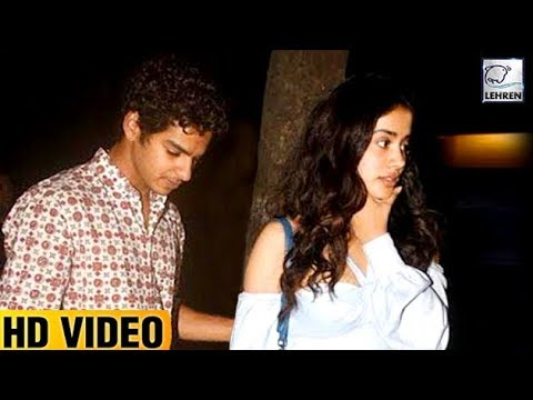 Jhanvi Kapoor & Ishaan Khattar New Year Party At S