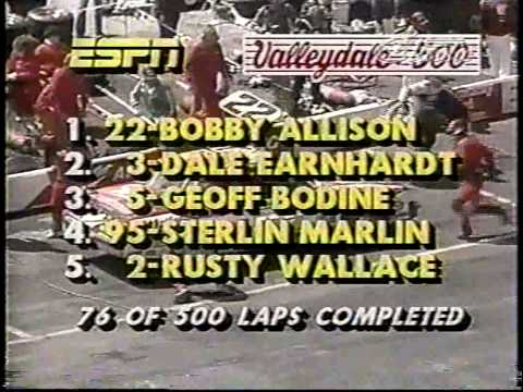 1985 NASCAR Winston Cup Valleydale Meats 500 @ Bristol [ESPN Classic Broadcast Version] (Full Race)