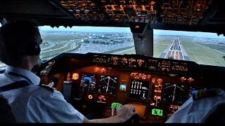 Video KLM B747-400ERF Beautiful Landing at AMS - Cockpit View MP3, 3GP, MP4, WEBM, AVI, FLV April 2019