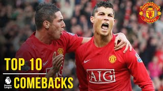 Video Manchester United's Top 10 Premier League Comebacks | Manchester United MP3, 3GP, MP4, WEBM, AVI, FLV Oktober 2018