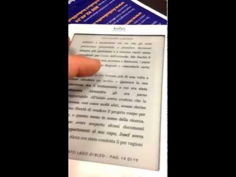 Kobo touch, il piccolo lettore EBook dotato di  display Eink e 2 GB di memoria per piu di 1000 libri