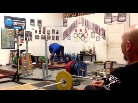 Maryam Usman  Doing 120kg C&J At Risto Sports For Reps