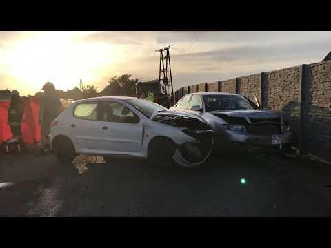 Wideo1: Zderzenie aut w Pasierbach
