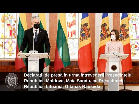 Declarația de presă a dnei Maia Sandu, Președintele Republicii Moldova, după întrevederea cu dl Gitanas Nauseda, Președintele Republicii Lituania