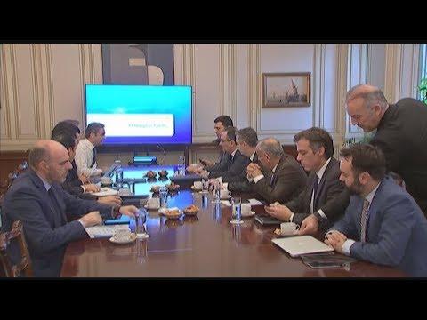 Συνάντηση του Κυριάκου Μητσοτάκη με την ηγεσία του υπουργείου υγείας