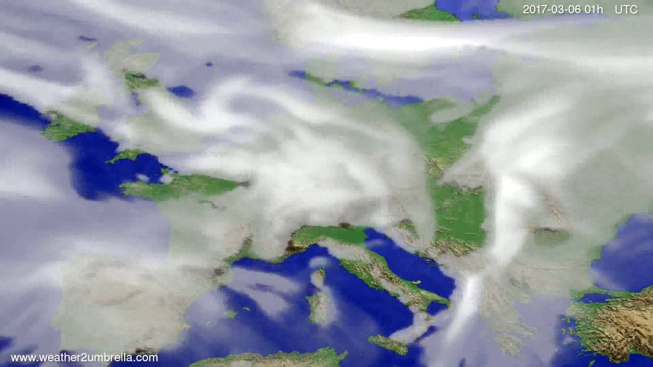Cloud forecast Europe 2017-03-03