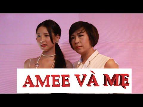 """Mẹ của AMEE sành điệu không kém con gái AMEE khi ra mắt họp báo album """"dreAMEE"""""""