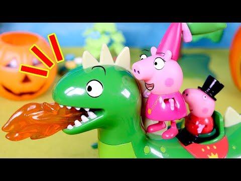 PEPPA PIG  Peppa encuentra un dragón en Halloween  Cuentos para niños