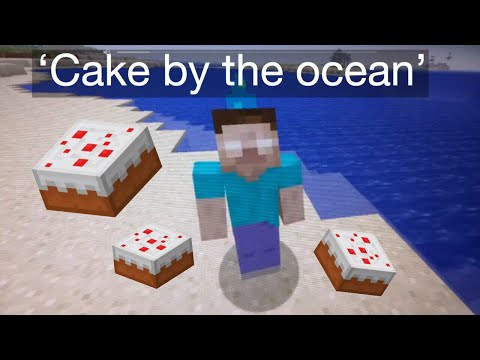 'Cake By The Ocean' - Minecraft Music Video