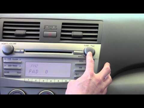 2011 toyota camry radio manual
