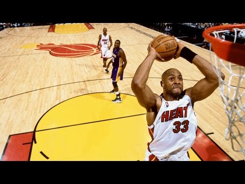 Alonzo Mourning Top 10 Dunks For Miami Heat (видео)