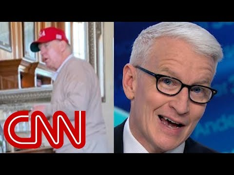 Anderson Cooper reacts to Trump's golf trip after declaring emergency