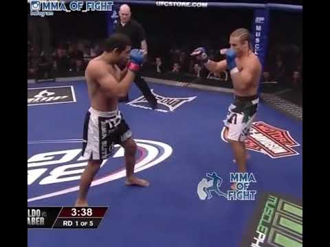 Jose Aldo vs Urijah Faber highlights (brutal leg kicks)