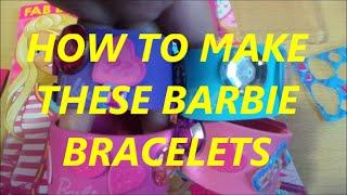 How To Make A Christmas Present Or Barbie Bracelets