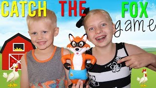 """Watch out! When those pants fall off the fox it'll make you jump!!  We had a lot of fun playing Catch the Fox for family game night.  It's a good game for kids around Michael's age :) Thanks for watching!  Don't forget to give us a THUMBS UP! Please subscribe to our channel & the kids' channels!http://bit.ly/FFPSubscribehttp://bit.ly/AlwaysAlyssaSubscribehttp://bit.ly/SubDudeItsDavidhttp://bit.ly/SubTwinTimehttp://bit.ly/SubMichaelsMPWant to send fan mail?  You can find our address in our """"about"""" section here on YouTube.Find pictures, updates, and more about Family Fun Pack: Facebook: http://bit.ly/FamilyFunFBTwitter: http://bit.ly/FamilyFunTwitterInstagram: http://bit.ly/FamilyFunIGMatt's Instagram: http://bit.ly/DaddyFunPackIGMatt's Twitter: http://bit.ly/DaddyFunPackAlyssa's Instagram: http://bit.ly/2dLKBE6David's Instagram: http://bit.ly/2dsNQAmZac's Instagram: http://bit.ly/2dL1JocChris' Instagram: http://bit.ly/2dL34vVMichael's Instagram: http://bit.ly/2cTen8zNew videos posted daily! Challenges, Epic Road Trips, Vlogs, Toys,  Clothes, Food, and lots of other fun things!  Family Fun Pack is a family of 6 kids: Alyssa, David, Zac & Chris, all born within 39 months of each other.  After those four, we had our precious son Michael and then our sweet new baby Owen!  Our motto is """"fun with the family, every day""""! We like to do videos with Play Doh, Costumes, Superheros, Hot Wheels, Surprise Eggs, holidays like Easter, Halloween & Christmas, we have fun birthday parties, we love indoor playgrounds and outdoor playgrounds, bounce houses, parks, water parks, Disneyland, Legoland, Legos, water toys, Thomas trains, play houses, forts, mess making, trying new foods, pranks, going crazy down the stairs, going to the beach, swimming, pools, Barbies, languages, sports, soccer, makeup, Alyssa loves Justice, horses, animals, and pretty much everything cool!  Be sure to watch our popular videos, such as 24 hours with 5 kids, kid size cooking & our Costume Runway Show -- we have"""