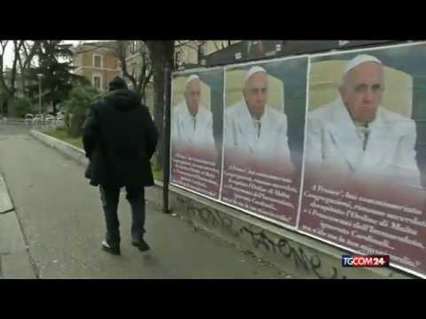 """a roma è tornato pasquino """"a francé...ma n'do sta la tua misericordia?"""""""
